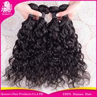 queen hair product brazilian virgin hair 4pcs/lot,top quality brazilian water wave, grade 6A human hair weave extension hot sell