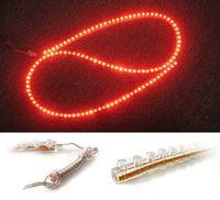 Free shipping Red 120 cm LED Flexible Car Auto Strip Light Bulb 12V (CD04)