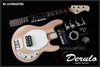 DIY Electric Bass Guitar Kit  Bolt-On  Solid Mahogany 4 strings  MX-888