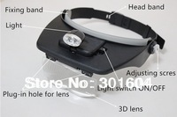 Helmet magnifier 1.2X 1.8X 2.5X 3.5X Magnification Headband Magnifier With LED Light Eye Glasses Style Loupe MG81001-A