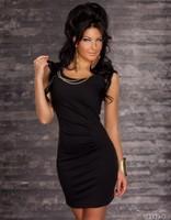 N082 New Arrival Women's Solid Sexy Clubwear Dress with round neck & Metal Bracelet, Fashion Nightclub Dress, Bar Dress