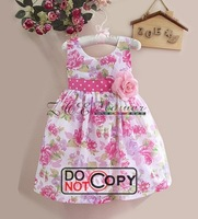 Free shipping! Wholesale! 5 sets/lot. Simple but elegant chiffon dress. The skirt with shoulder-straps. The children's dress.