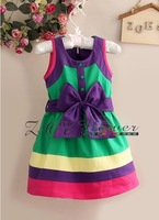 Free shipping! Wholesale! Hot sales! 6 sets/lot. Color dress. Sundress. The skirt with shoulder-straps. The princess dress.