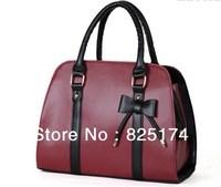 2013 fashion women's Sweet Ladies Candy Color Bowknot Shoulder Bag Cross-body Handbags totes