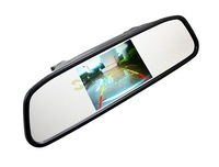 "High resolution 4.3"" TFT LCD Car Rearview Mirror Monitor Mirror Reverse Car Rear View Backup Camera DVD 12V 19462"