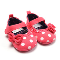 baby shoes baby girls princess first wakers girls Dot shoes toddler shoes soft outsole little princess shoes Free shipping