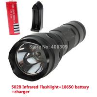 UltraFire 502b WF-502B Infrared LED Flashlight Torch+1x Ultrafire 3000mah 18650 Battery+Charger Free Shipping