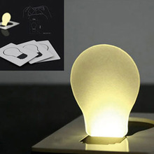 New Portable Pocket LED Card Put in Purse Wallet Light Lamp # 1716(China (Mainland))