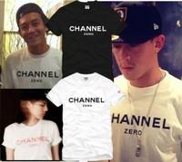 2015 famous brand fashion summer cotton t-shirt fake - channel zero short-sleeve T-shirt t shirt man casual top tee hiphop