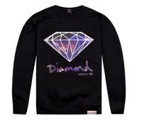 Men's Fashion Loose Hip hop style tops Diamond Bling  Sweatshirt Swag Fresh Hipster Sweater