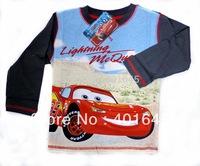 2014 new item boy long sleeve car t-shirt kids cool cartoon tee kids top