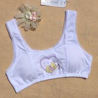 Cartoon Bears wide straps detachable small vest girls underwear bra pad students