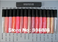 2013 hot selling! MC brand Lip Gloss Makeup lipgloss Lots of 12Pcs High Quality 12 colors Free Shipping Dropshipping