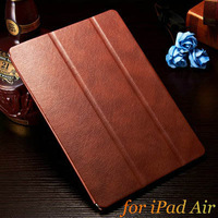 "Ultrathin Vintage PU Leather Stand Case for iPad Air 5 9.7"" Luxury Smart Cover for iPad5 2014 New Arrival Black Brown Drop Ship"