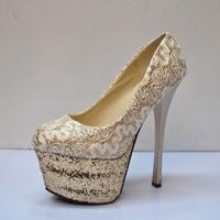 Fashion fashion lady high-heeled shoes stage shoes wedding shoes