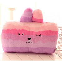 Rabbit hand warmer pillow stuffed colorful cute soft fleece keep warm in winter hot selling free shipping cushion toy