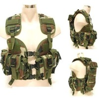 Adjusted CQB LBV Navy Seals water bag tactical vest-modular assault tactical hump water pouch Army vest Woodland camouflage
