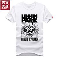 Trend summer t brief linkin park 100% cotton short-sleeve T-shirt male Women