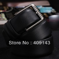 Black coffee Famous Brand JAMRESVCK Men Belts Waist Cowskin Leahter Fashion Smooth Buckle 2014 New Design blet2