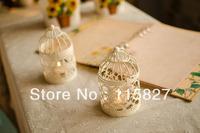Free Shipping!Classical design Iron Candle Holder Weddings lantern Candle Holder Bird cage shape candle holder wedding gift