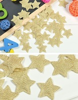 """Free Shipping 50 1.2"""" Padded Sewing Scrapbooking Craft Glitter Star Appliques Baby Kids Trim [HB21]"""