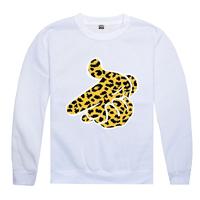 NEW Free Shipping Cartoon Hands Leopard Print CREWNECK Galaxy sweater Hip Hop Rap Sweatshirt Sweater