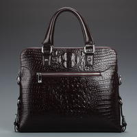 Free shipping 2014 new designer brand high quality crocodile handbag bag for men crocodile leather tote shoulder messenger bag