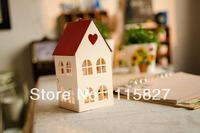 Free Shipping!House shape Iron lantern Weddings lantern Candle Holder wedding gift house decor Candy case  Chocolate box