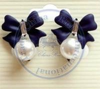 Stud Earrings ear rings Fashion for women Girl's lady sweet bowknot pearl desgin wholesale retail