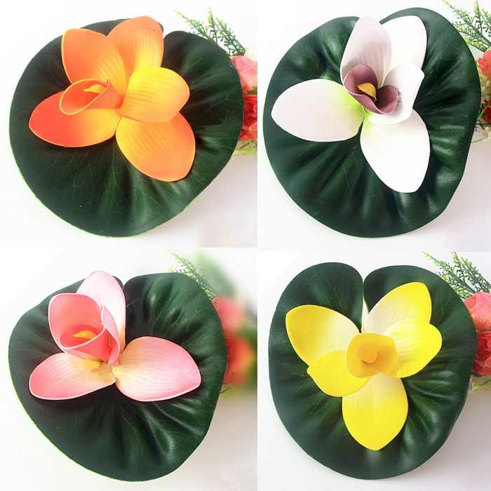1PCS Free Shipping Retail/ Dropship Plastic Floating Fake Flower Lotus(China (Mainland))