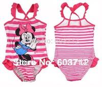 free shipping minnie baby girls swimsuits girl's bikini swimwear new design chlidren swimsuits