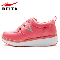 Sallei autumn and winter thermal elevator shoes female fashion sport shoes elevator shoes platform swing female 669