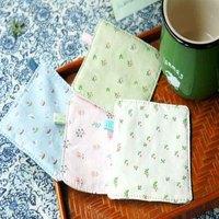 24 Pcs / Lot New Cartoon Qing Hua Minor Fashion Soft Rubber Fabic Coasters Cup Pad Coaster
