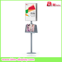 "Silver  Poster Stand  with 16.5""w x 23.4""h Snap Poster Frame"