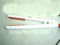 New Fashion Professional WHITE LCD TOURMALINE CERAMIC HAIR IRON STRAIGHTENER TOOL