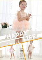 5 pcs/lot,kids  three color tutu dresses, flower girl layer dresses,2002