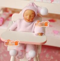 Doll house mini dollhouse dolls powder sweater mobcap baby