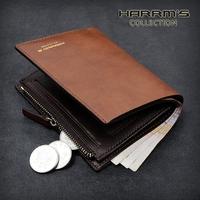 2014 NEW arrival  Zipper men wallet cowhide short wallet design male wallet card holder genuine leather coin purse