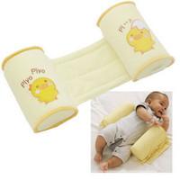 Baby Shaping Pillow Orthopedic Flat Toe Cap Anti-roll Pillows Yellow  Chick  Newborn Freeshipping