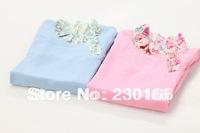 New 2014 Spring / Autumn Kids Girls Long Sleeve T-shirt Cotton Candy Color Kids Bottoming T-shirt Children Tops Tees K2014016