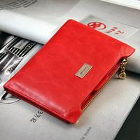 Women's short design wallet multi card holder wallet multifunctional personalized vertical purse clutch