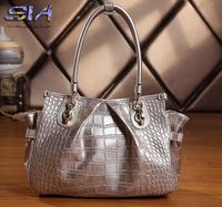 Women's Genuine leather handbag New 2014 fashion women shoulder bags crocodile pattern messenger bag designers brand handbags