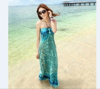 New 2014 women summer fashion Beach dress bohemia plus size sexy cprinting asual dress free shiping