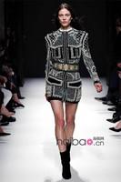 Barocco New Fashion Latest Runway Women's Stunning Handmade Beaded Jacket High-end Outerwear