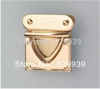 27*29mm  free ship hardware high quality zinc alloy rectangle mortise locks handbags lock drop catch bags accessory