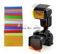12 Color Card Flash Light Soft Box Strobist Balance Color Card gels filter for YN560 580ex 430ex sb800 sb900 universal