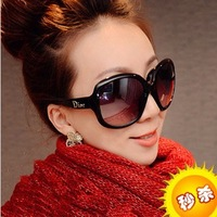 Anti-uv sunglasses gradient women's mirror female big box vintage sunglasses female fashion oversized glasses female