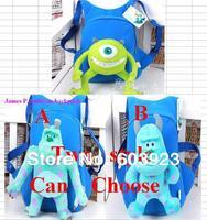 1 pcs Mike Wazowski backpack plush kids green school bags Cosplay one eyed toy children shoulder bag