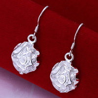 New Wholesale 925 silver earring 925 silver fashion jewelry earring Rose Earrings