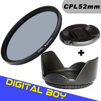 Digital Boy Brand New cpl filter 52mm+ 52mm Lens Hood +52mm Lens Cap for Nikon D5200 D3200 18-55mm AF Nikkor 55-200mm Lens